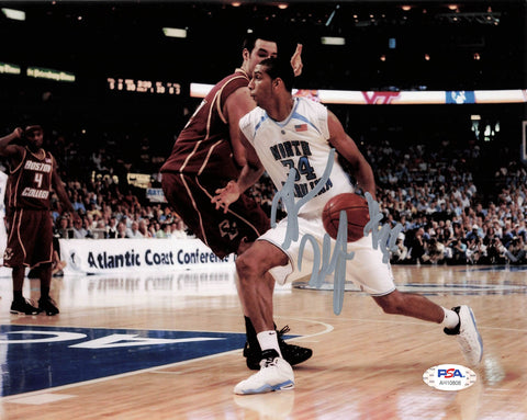 Brandan Wright signed 8x10 photo PSA/DNA Tar Heels Autographed