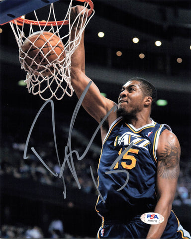 Derrick Favors signed 8x10 photo PSA/DNA Utah Jazz Autographed