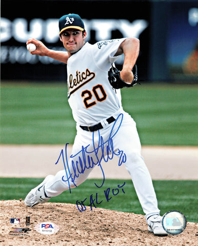 Huston Street signed 8x10 photo PSA/DNA Oakland Athletics Autographed
