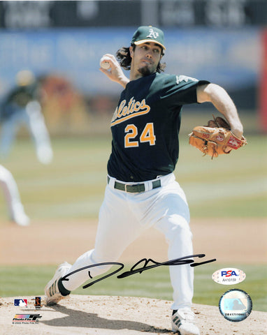 Dan Haren signed 8x10 photo PSA/DNA Oakland Athletics Autographed
