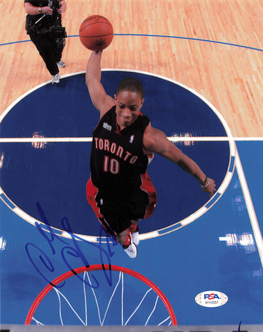 DeMar DeRozan signed 8x10 photo PSA/DNA Toronto Raptors Autographed
