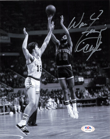 Walt Frazier signed 8x10 photo PSA/DNA New York Knicks Autographed
