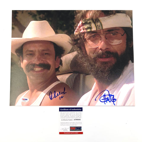 Cheech Marin & Tommy Chong Signed 11x14 Photo PSA/DNA autographed