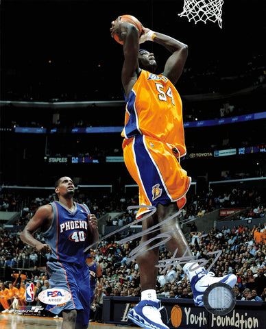 Kwame Brown signed 8x10 photo PSA/DNA Los Angeles Lakers Autographed