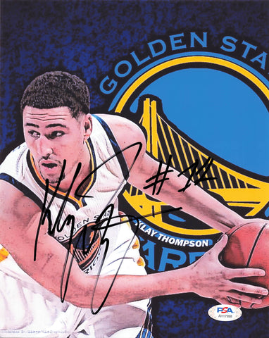 Klay Thompson signed 8x10 photo PSA/DNA Golden State Warriors Autographed