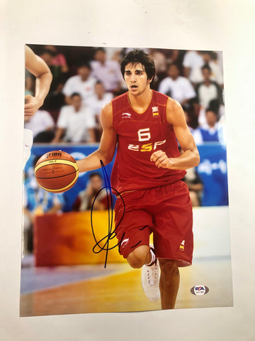 Ricky Rubio signed 11x14 photo PSA/DNA Spain Autographed Spain Suns