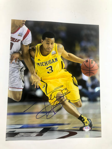 Trey Burke signed 11x14 photo PSA/DNA Michigan Jazz 76ers Autographed