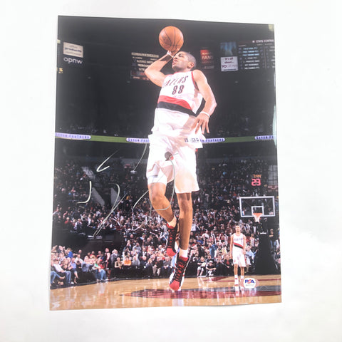 Nicolas Batum signed 11x14 photo PSA/DNA Portland Trailblazers Autographed Hornets
