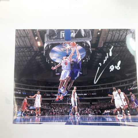 Omri Casspi signed 11x14 photo PSA/DNA Sacramento Kings Autographed