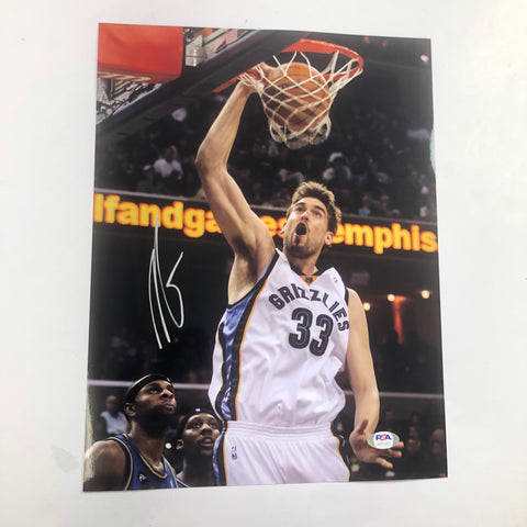 Marc Gasol Signed 11x14 Photo PSA/DNA Memphis Grizzlies Autographed Raptors