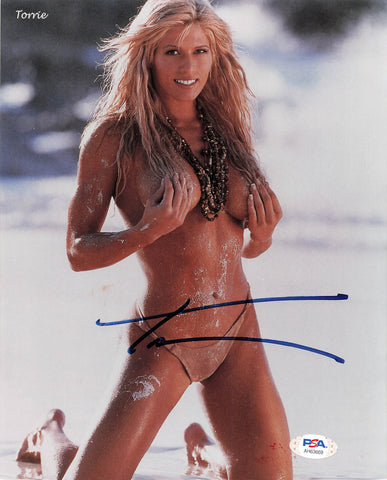 Torrie Wilson signed 8x10 photo PSA/DNA COA WWE Autographed Sexy