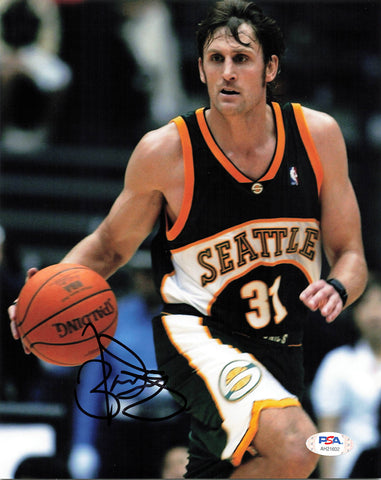 Brent Barry signed 8x10 photo PSA/DNA Seattle SuperSonics Autographed