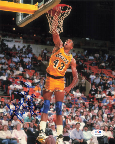 Mychal Thompson signed 8x10 photo PSA/DNA Los Angeles Lakers Autographed