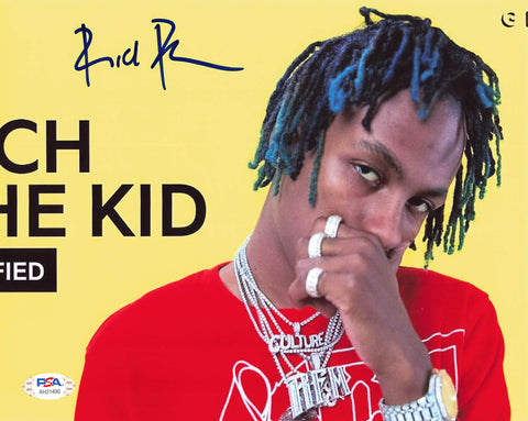 Rich The Kid signed 8x10 photo PSA/DNA Autographed Rapper