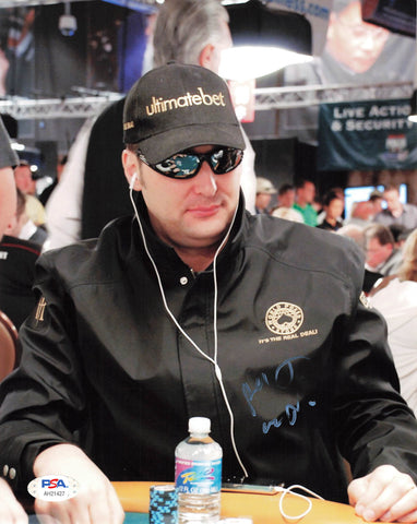 Phil Hellmuth signed 8x10 photo PSA/DNA Autographed Poker