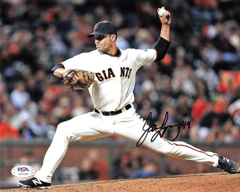 Javier Lopez signed 8x10 Photo PSA/DNA San Francisco Giants autographed