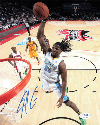 Kenneth Faried signed 8x10 photo PSA/DNA Denver Nuggets Autographed