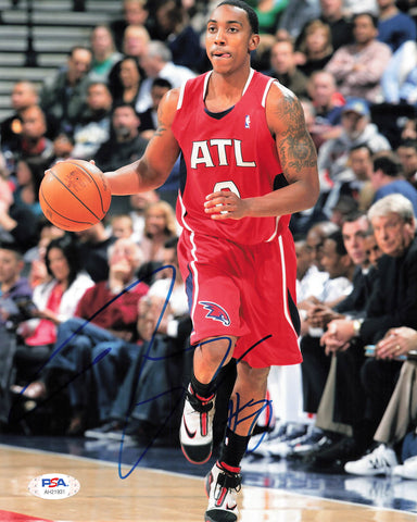 Jeff Teague signed 8x10 photo PSA/DNA Atlanta Hawks Autographed