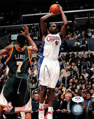 Elton Brand 8x10 photo PSA/DNA Los Angeles Clippers Bulls Autographed