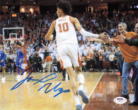 Jaxson Hayes Signed 8x10 Photo PSA/DNA Texas Longhorns Autographed