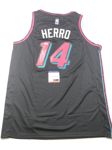 Tyler Herro signed jersey PSA/DNA Miami Heat Autographed