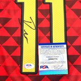 Trae Young Signed Jersey PSA/DNA Atlanta Hawks Autographed