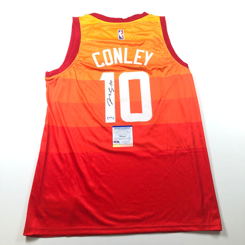 Mike Conley signed jersey PSA/DNA Utah Jazz Autographed
