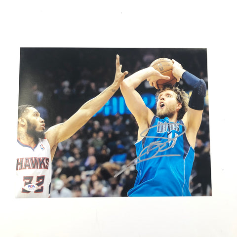 Dirk Nowitzki signed 11x14 photo PSA/DNA Dallas Mavericks Autographed