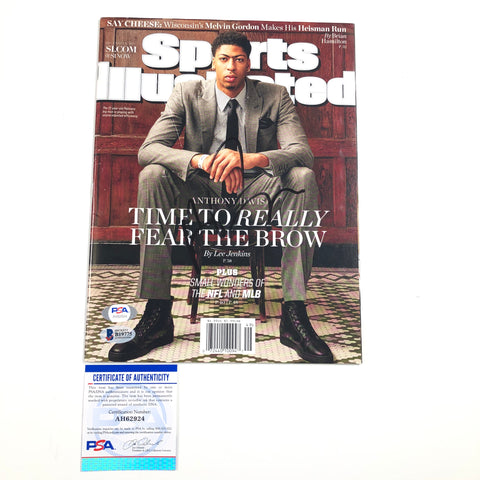 Anthony Davis signed SI Magazine PSA/DNA Los Angeles Lakers Autographed Sports Illustrated