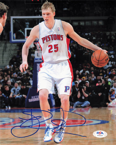 Kyle Singler signed 8x10 photo PSA/DNA Detroit Pistons Autographed