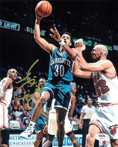 Dell Curry signed 8x10 photo PSA/DNA Charlotte Hornets Autographed