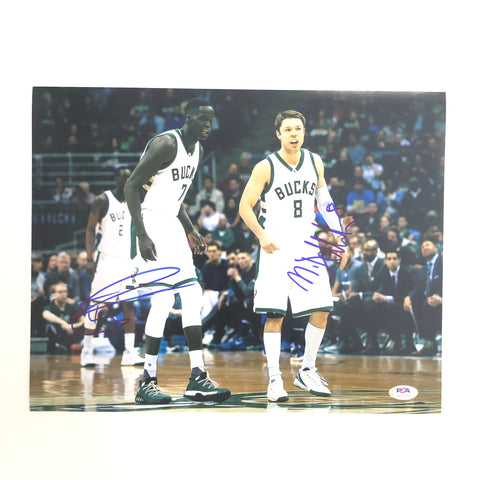 Matthew Dellavedova Thon Maker 11x14 photo PSA/DNA Bucks Autographed