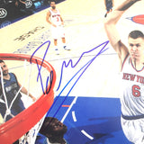 Kristaps Porzingis signed 11x14 photo PSA/DNA New York Knicks Mavericks