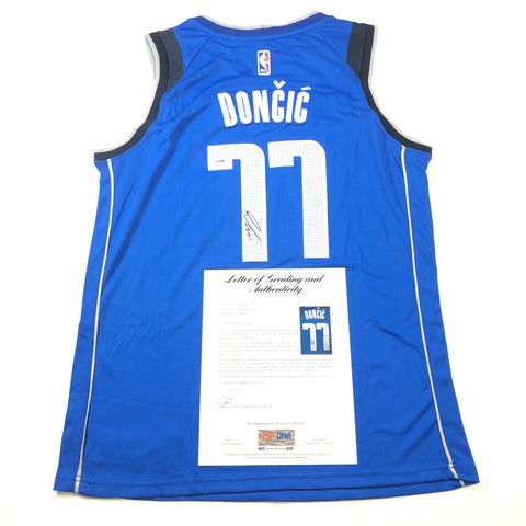 Luka Doncic signed jersey PSA/DNA Auto Grade 10 Autographed LOA