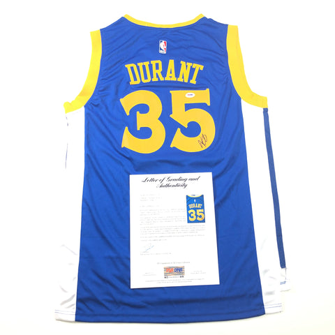 Kevin Durant signed jersey PSA/DNA Auto Grade 10 Autographed LOA