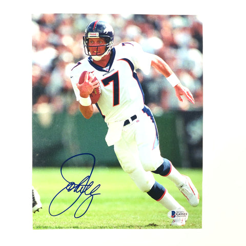 John Elway signed 8x10 photo BAS Beckett Denver Broncos Autographed