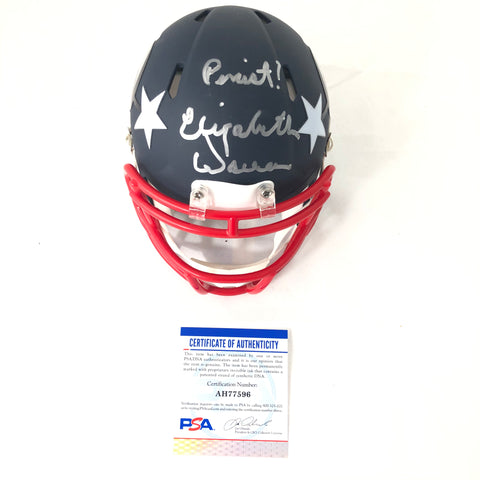 Elizabeth Warren signed mini helmet PSA/DNA Politician autographed