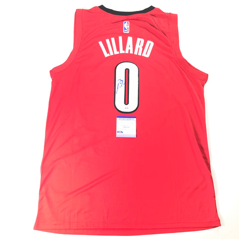 Damian Lillard Signed Jersey PSA/DNA Portland Trail Blazers Autographed Red
