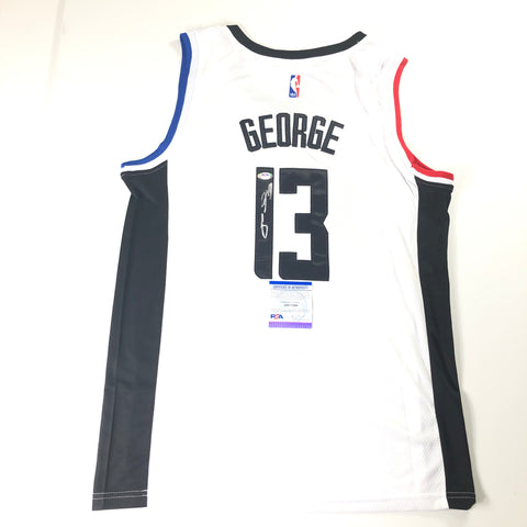 Paul George Signed Jersey PSA/DNA Los Angeles Clippers Autographed