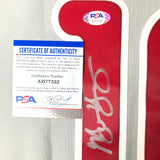 Michael Young signed jersey PSA/DNA Philadelphia Phillies Autographed