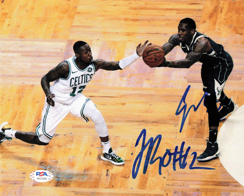 Eric Bledsoe and Terry Rozier signed 8x10 photo PSA/DNA Bucks/Celtics Autographed