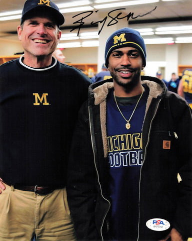 Big Sean signed 8x10 photo PSA/DNA Autographed Jim Harbaugh