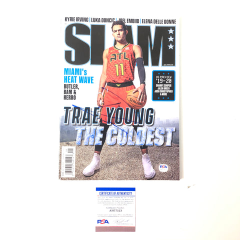 Trae Young Signed Slam Magazine PSA/DNA Atlanta Hawks Autographed
