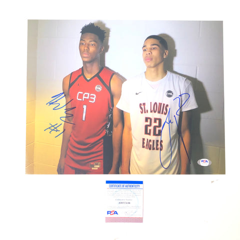 Jayson Tatum Harry Giles signed 11x14 photo PSA/DNA Boston Celtics Kings Autographed