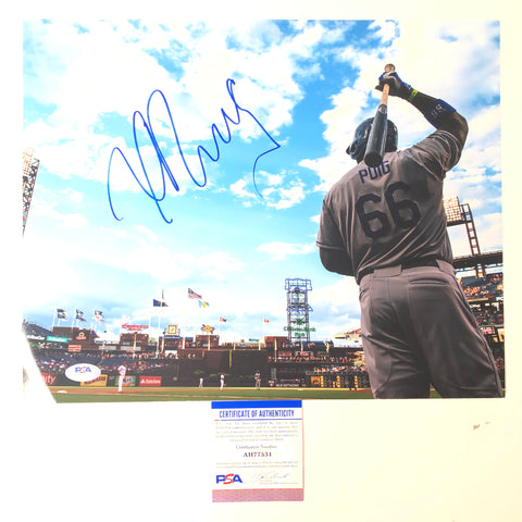 Yasiel Puig signed 11x14 photo PSA/DNA Los Angeles Dodgers Autographed