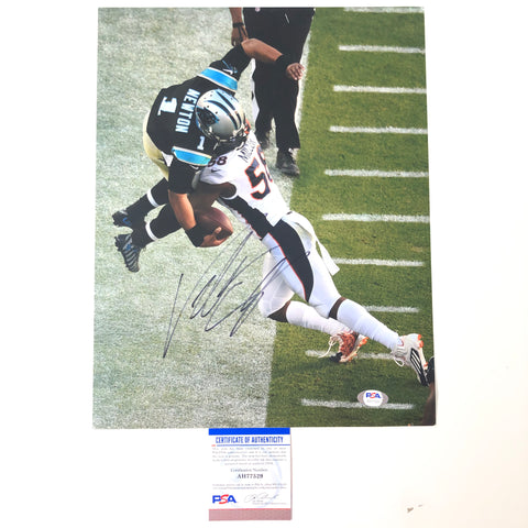 Von Miller signed 11x14 Photo PSA/DNA Denver Broncos Autographed SB 50 Champ