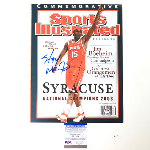 Carmelo Anthony signed 11x14 photo PSA/DNA Syracuse Autographed Trailblazers