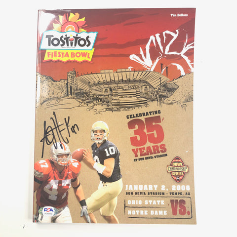 AJ Hawk Signed Magazine PSA/DNA Ohio State University Buckeyes Autographed