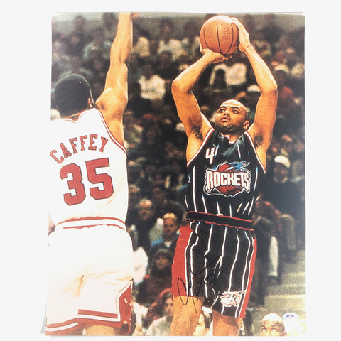 Charles Barkley signed 16x20 photo PSA/DNA Houston Rockets TNT Autographed