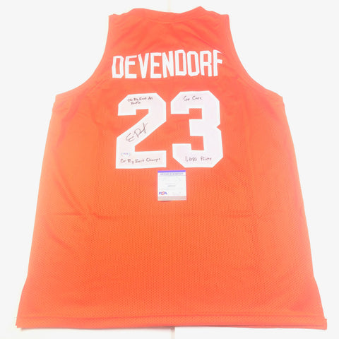 Eric Devendorf signed jersey PSA/DNA Syracuse Autographed